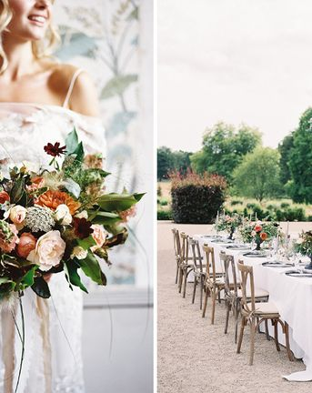 Elegant Summer Inspiration at St Giles House, Dorset by Jessica Roberts Design   Living Coral, White & Green Flowers   Tablescape   Imogen Xiana Photography