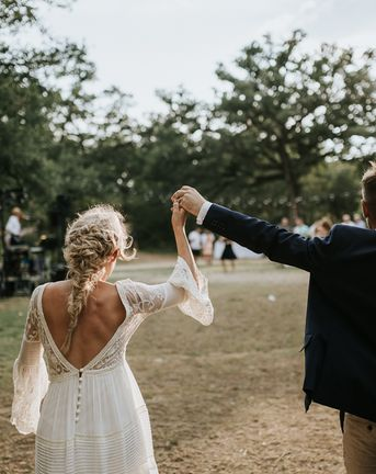 Spell & the Gypsy Collective Bell Sleeve Wedding Dress for an Outdoor Bohemian Wedding at La Selva, Tuscany   Damien Milan Photography