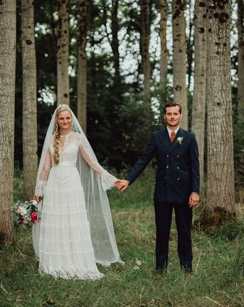 Rustic French Destination Wedding with Homegrown Flowers | Catherine Deane Wedding Dress | Silk Fred Bridesmaids Dresses | Emily & Steve Photography
