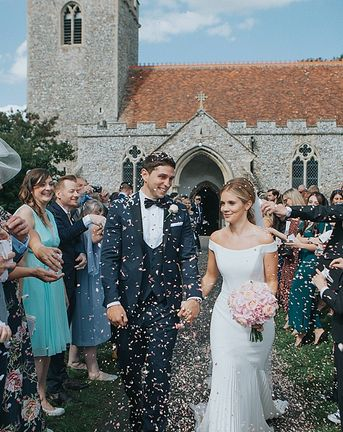 Pastel Pink & Mint Green Wedding at Granary Estates Suffolk   Suzanne Neville Bardot Gown   Mini Golf   Gospel Choir   Julia & You Photography