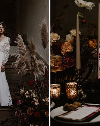 Deep Florals Wedding Inspiration at The Grange at Northington Planned & Styled by Wed & Bash | Jenni Bloom Flowers | Sara Lincoln Photography