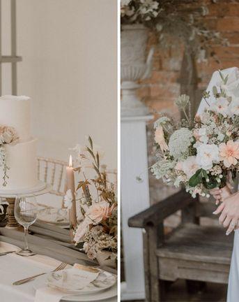 Puffed Sleeve Wedding Dress