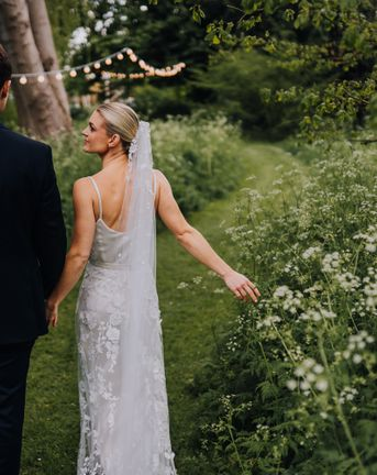 Bridal Two Piece at Garden Party Wedding in the Cotswolds