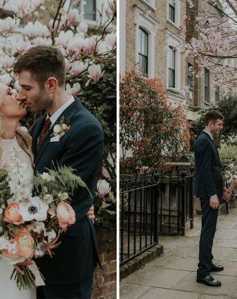 Wedding Cape For Stylish City Celebration In Kentish Town