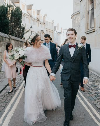 Intimate Oxford Wedding at Bodleian Library with First Look