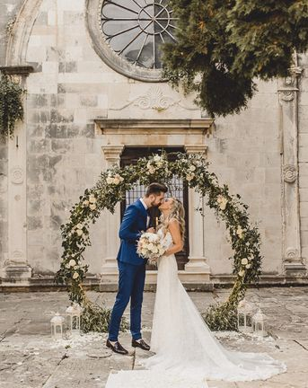 Essense of Australia Wedding Dress for Romantic Elopement in Croatia