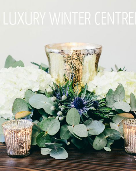 Winter Wedding Table Decoration - The DIY