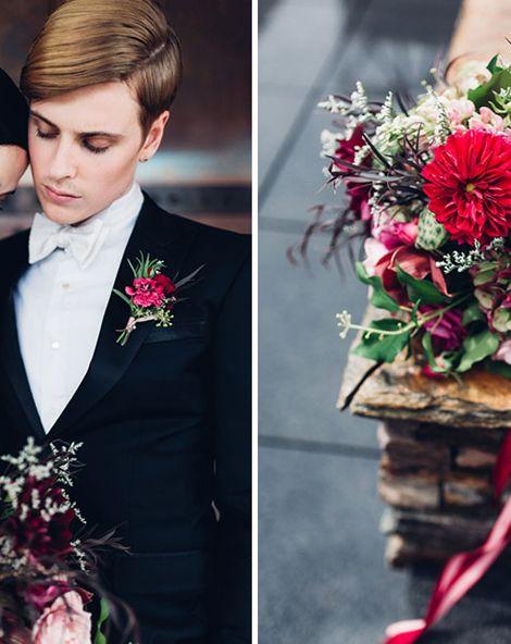 Elegant Metallic Gold & Red Wedding Inspiration
