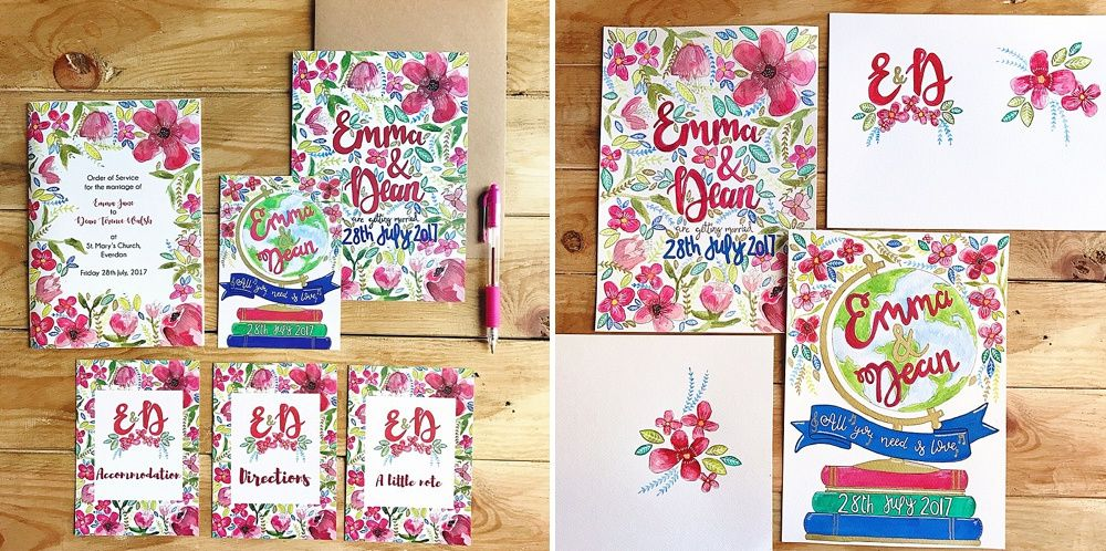 RMW Real Bride Diary {Emma & Dean: Stationery Details}