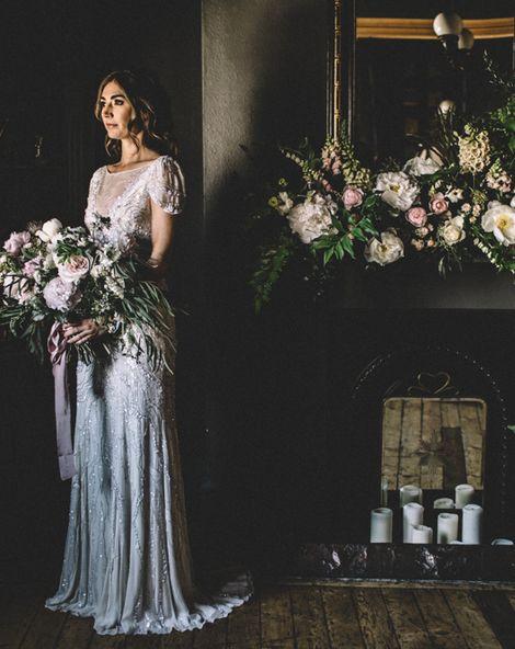 Dark Hues For An Intimate Wedding Inspiration Shoot