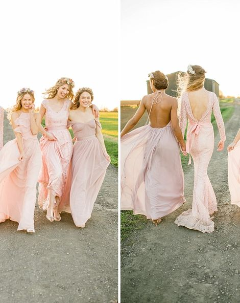 Ethereal Bridesmaids Dresses From TH&TH