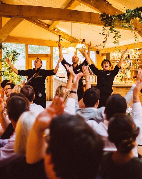Singing Waiters Cripps Barn Ed Godden Photography