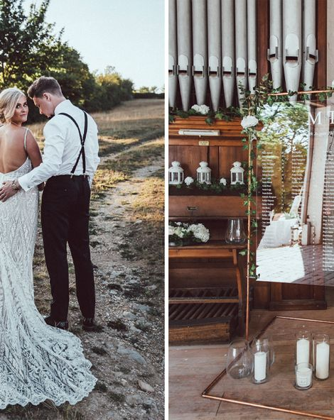 Galia Lahav Mermaid Style Wedding Dress // Longbourn Estate Barn // Images By The Vedrines
