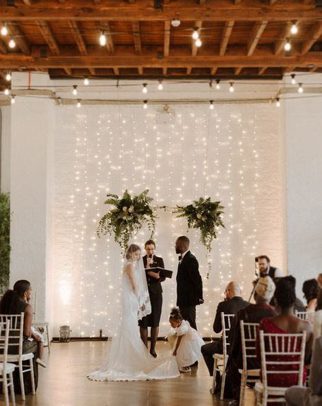 Green & White Luxe, Modern Minimalist City Wedding by The Curries   Bride In Dress By Pronovias   Venue Trinity Buoy Wharf