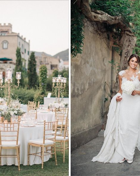 Three Day Ravello Wedding at Villa Cimbrone on Amalfi Coast Italy Planned by The Wedding Boutique Italy | Pronovias Gown | Black Tie | M & J Photography