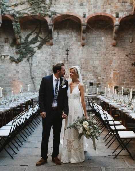 Dreamy Italian Destination Wedding At A Tuscan Castle