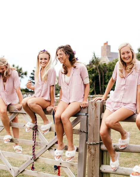 Personalised Pastel Pink Pyjama Shorts for Brides and Bridesmaids   Getting Ready Robes