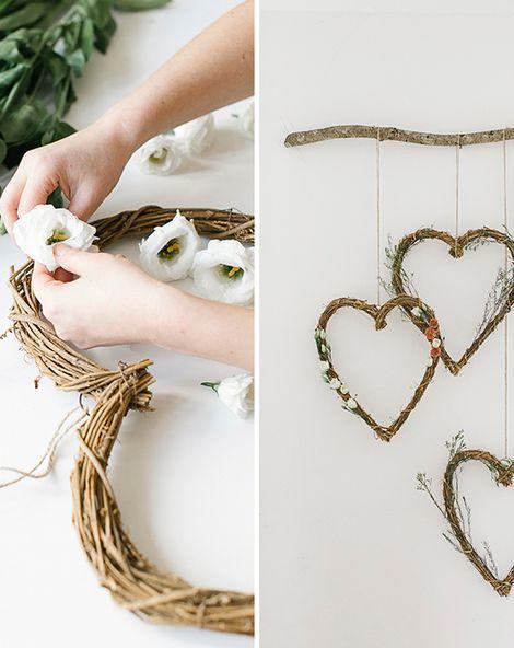 DIY floral heart wreath decor/photo backdrop for under £50