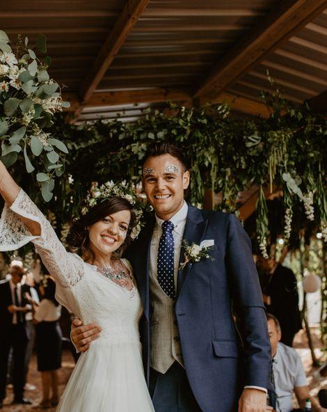 Macramé & Dreamcatcher Woodland Wedding at Upthorpe Wood | Outdoor Humanist Ceremony | ReWritten Bridesmaids | Glitter Bar | Camilla Andrea Photography