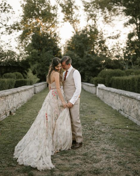 Fairytale Tuscan Wedding with Bride in Embroidered Dress | Rara Avis Dress | Tenuta La Fratta, Tuscany | Naked Cake | Andrea & Federica Photography