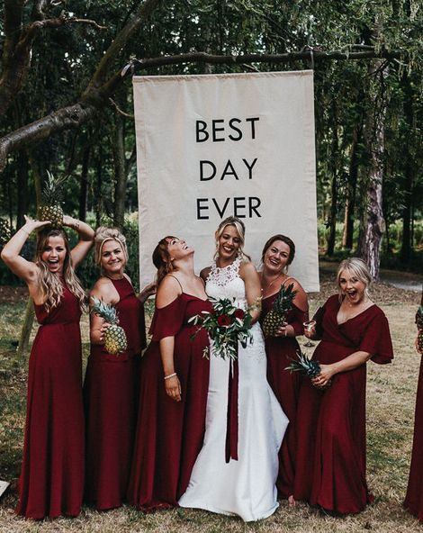 Nottinghamshire Wedding with Spanish Vibes and Rewritten Bridesmaids Dresses   Essence of Australia Gown   The Pumping House   Kev Elkins Photography