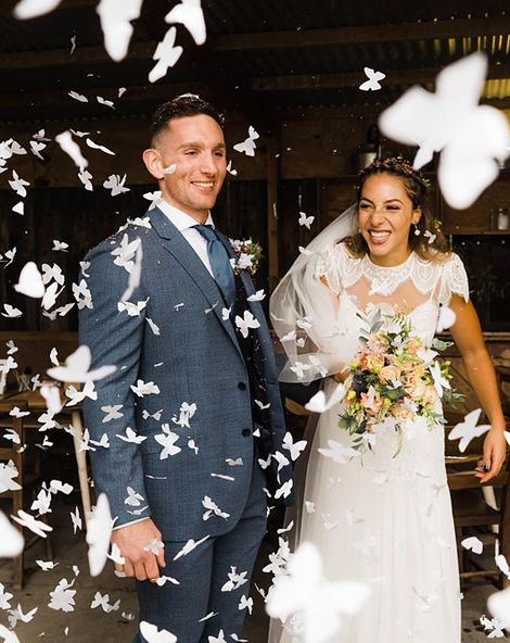 Lace KatyaKatya Dress for Tipi Wedding at Fforest Farm | Christian Louboutin Shoes | ASOS Bridesmaids Dresses | Claudia Rose Carter Photography