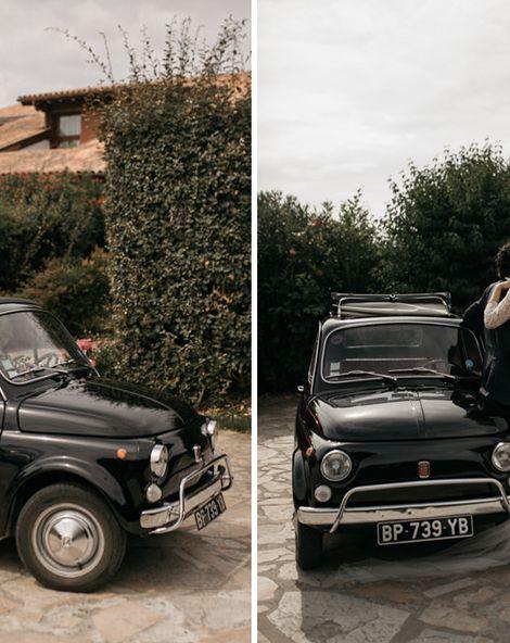 Fiat 500 Wedding Car