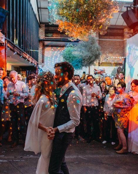 wedding with lights