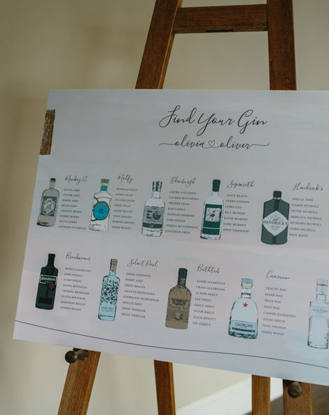 Gin Table Plan
