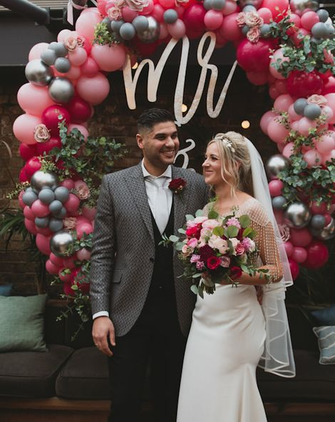 Balloon Wedding Arch and Sequin Bridesmaids At Century Club In London
