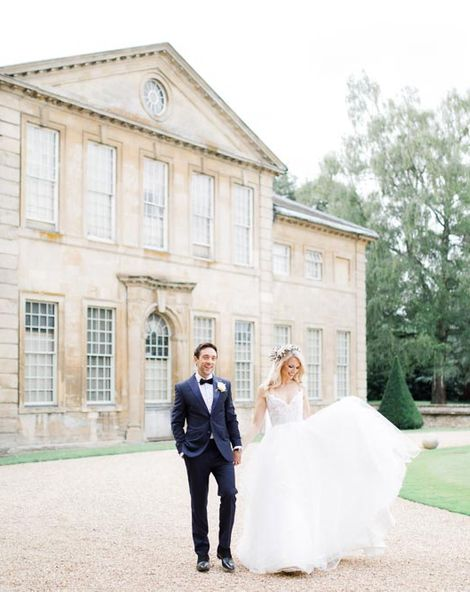 Whimsical Wedding At Aynhoe Park In The Cotswolds with Flower Crown