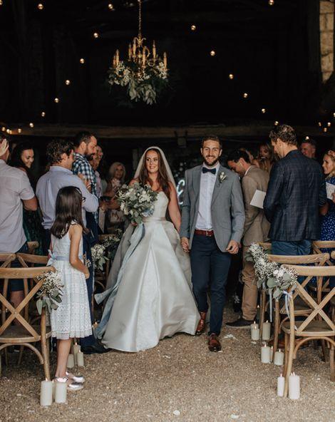 Sassi Holford Wedding Dress for a Rustic Blue Wedding in France