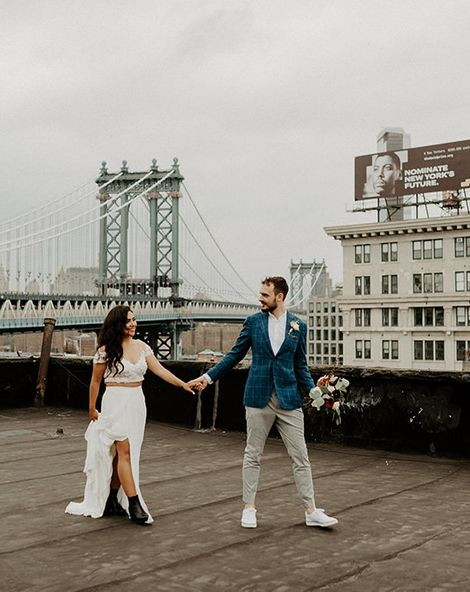 Brooklyn Elopement with First Look and Bridal Separates