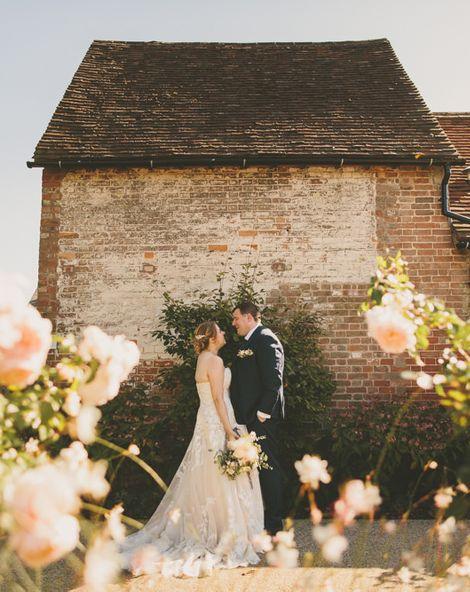 Bassmead Manor Barns Wedding With DIY Decor & Pronovias Bride Dress