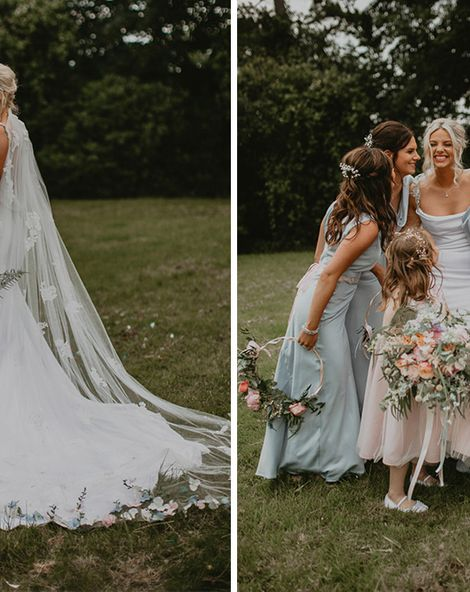 Embroidered Veil With Pronovias Bride Dress At Intimate Wedding