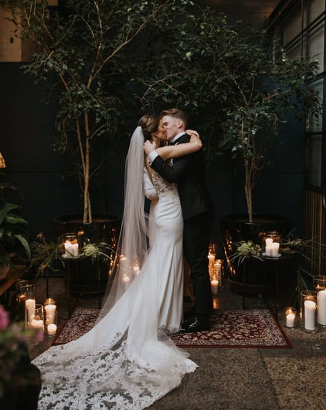 Australian Wedding with Monochrome Industrial Vibes and Botanical Decor