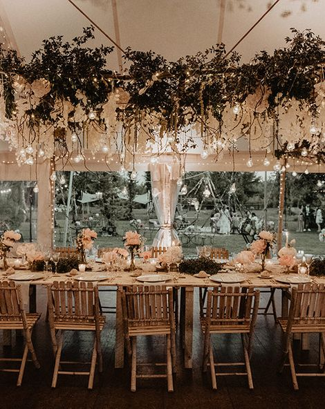 Intimate Wedding In France With Romantic Flower & Light Installation