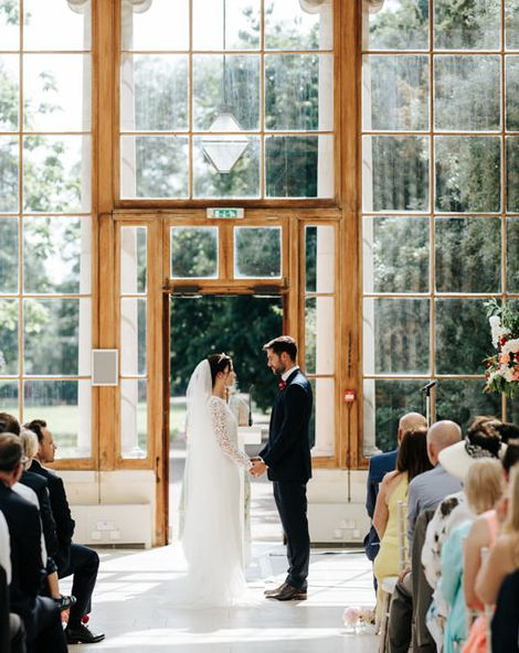 Kew Gardens Wedding with Pink Bouquets and a Cupcake Wedding Cake