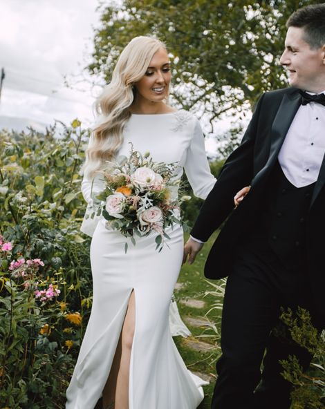 Marquee Reception at Wales Wedding Venue with Two Bridal Dresses
