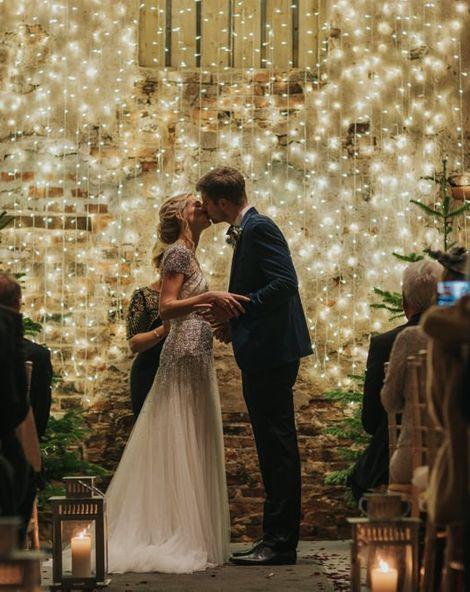 Embellished Wedding Dress for New Years Eve Celebration