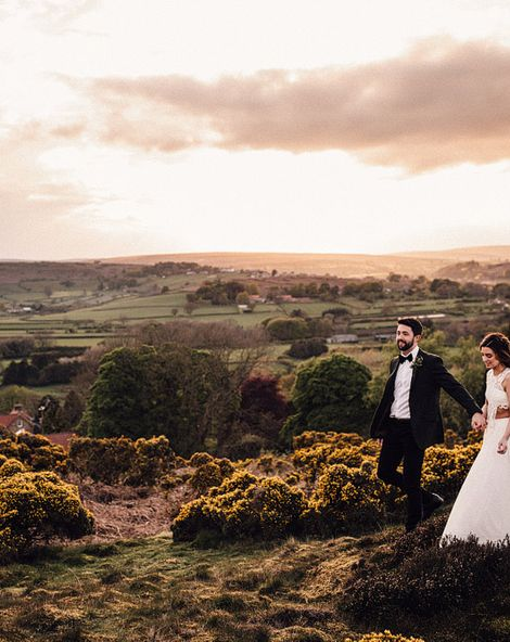 Danby Castle Wedding in Whitby with Emma Beaumont Wedding Dress