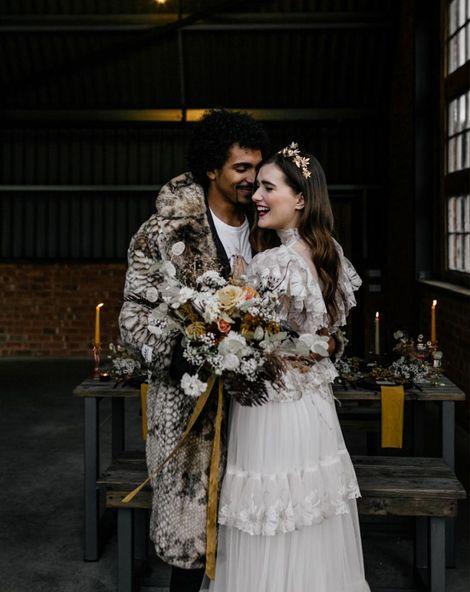 high neck wedding dress copy