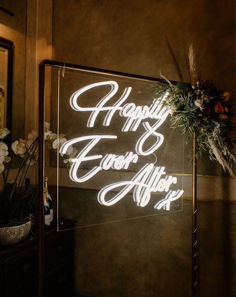 Wedding Details Neon Sign Ellie Gillard