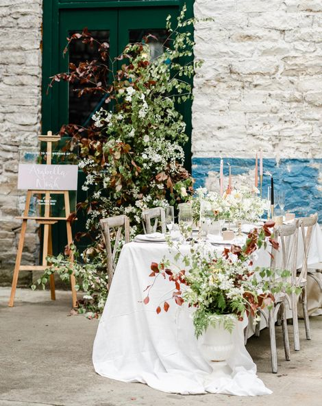 Torr Vale Mill wedding inspiration with romantic dresses and wedding flowers