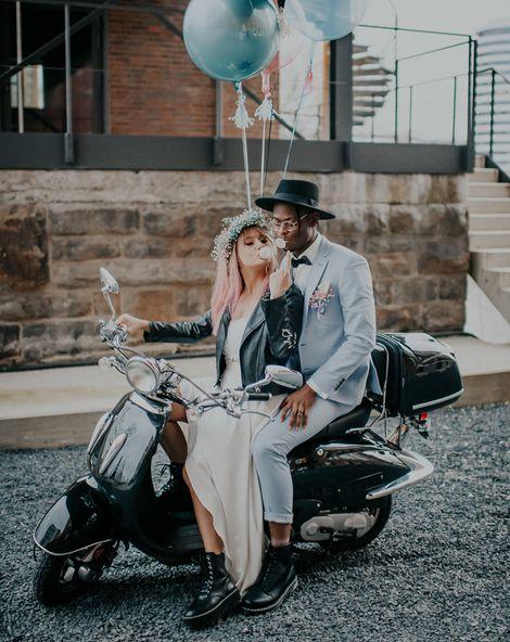 pale blue wedding suit