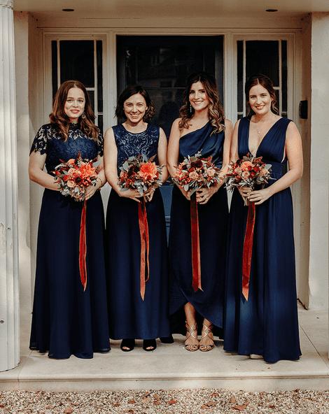 Navy Bridesmaid Dresses Inspiration