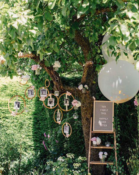 wedding tree decroation