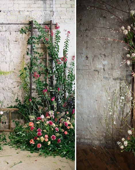 Five Ways To Style A Ladder For Your Wedding Day