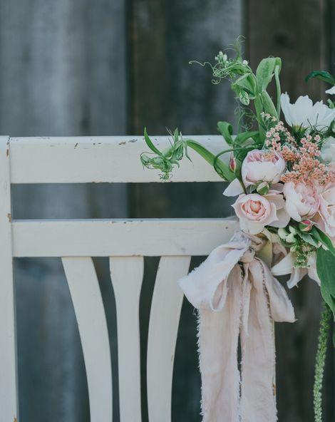 DIY Floral Chair Back Arrangements For Your Wedding