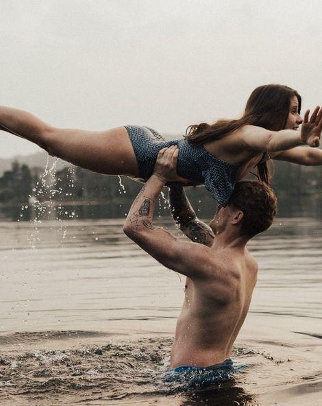 Dirty Dancing Lake Lift Engagement Shoot